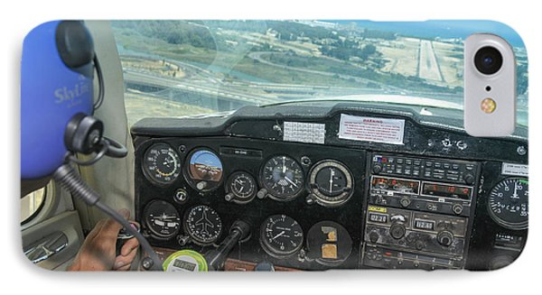 Pilot In Cessna Cockpit IPhone Case by Shay Levy