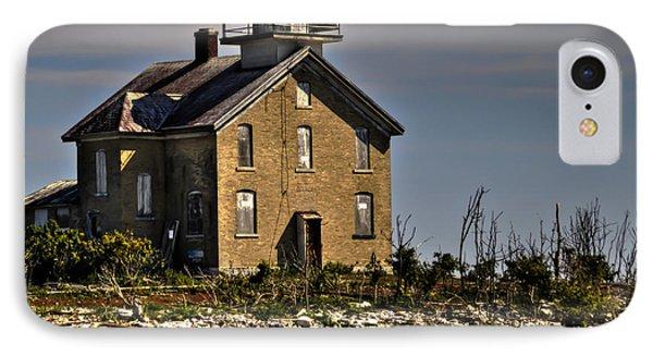 IPhone Case featuring the photograph Pilot Island Lighthouse by Deborah Klubertanz