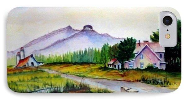 Pilot Mountain Nc Farm Scene IPhone Case