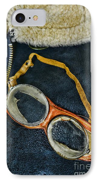 Pilot - Vintage Aviation Goggles Phone Case by Paul Ward