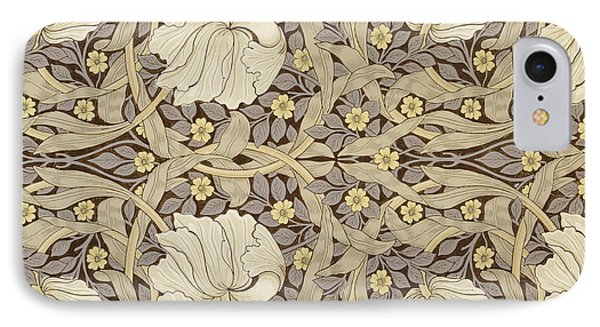 Pimpernell, Design For Wallpaper, 1876 IPhone Case by William Morris