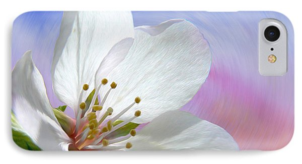 Pin Cherry Swirl IPhone Case by Barbara St Jean