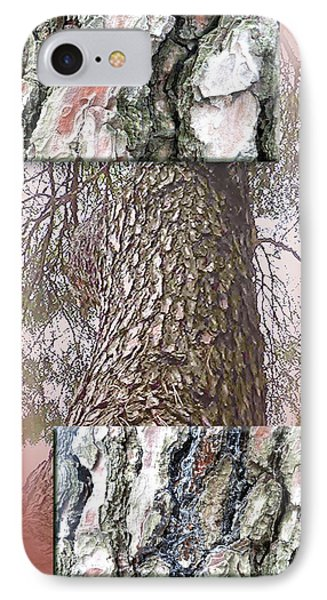 Pine Bark Study 1 - Photograph By Giada Rossi IPhone Case by Giada Rossi