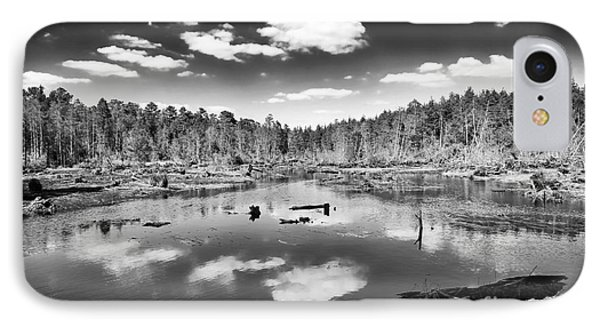 Pine Barrens Lake Phone Case by John Rizzuto