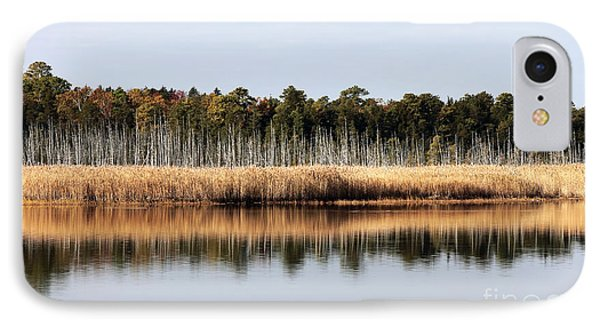 Pine Barrens Reflections Phone Case by John Rizzuto