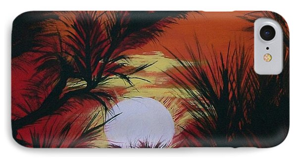 Pine Branch Silhouette Phone Case by Sharon Duguay