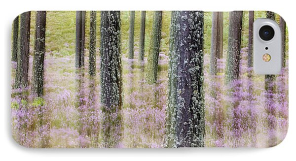 Pine Forest And Heather Cairngorms Np IPhone Case