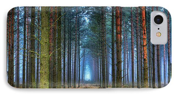 Pine Forest In Morning Fog Phone Case by EXparte SE
