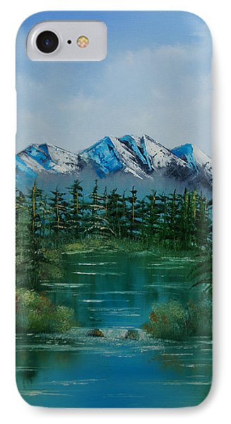 IPhone Case featuring the painting Pine Lake by Chris Fraser