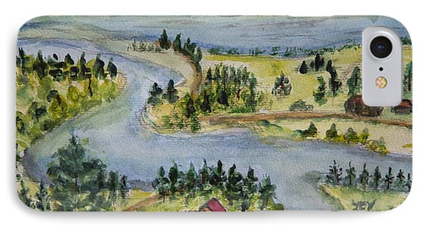 Pine Needle View Of The Flat Head River. IPhone Case