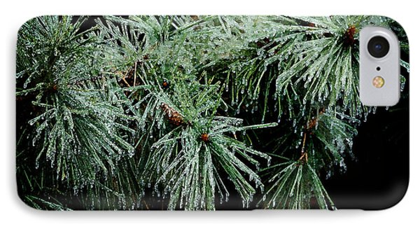 Pine Needles In Ice Phone Case by Betty LaRue