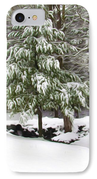 Pine Tree Covered With Snow 2 Phone Case by Lanjee Chee