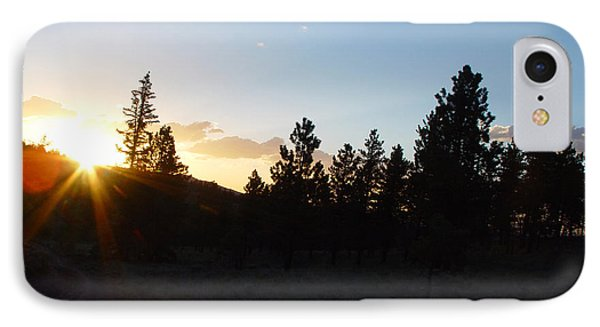 Pine Tree Sunset Phone Case by Mark Russell
