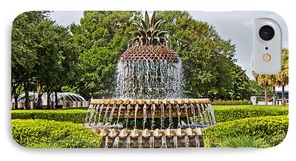 IPhone Case featuring the photograph Pineapple Fountain In Waterfront Park by Jean Haynes