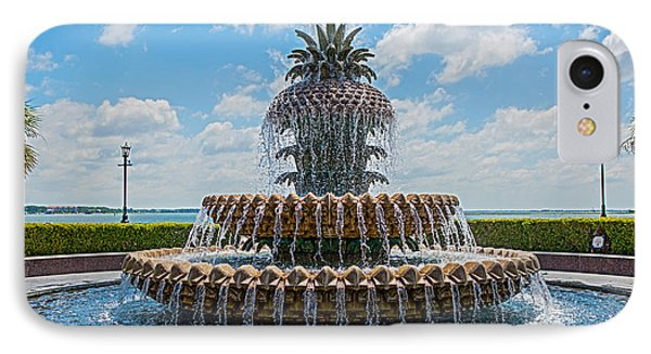 IPhone Case featuring the photograph Pineapple Fountain by Sennie Pierson