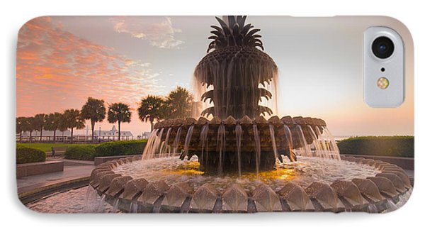 Pineapple Fountain IPhone Case by Serge Skiba
