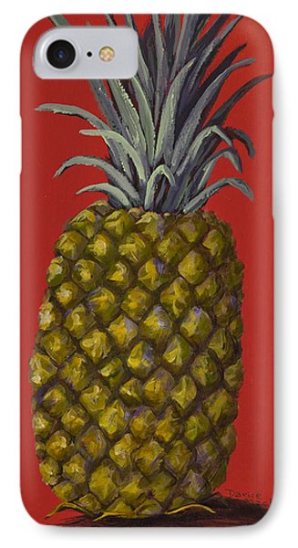 Pineapple On Red Phone Case by Darice Machel McGuire