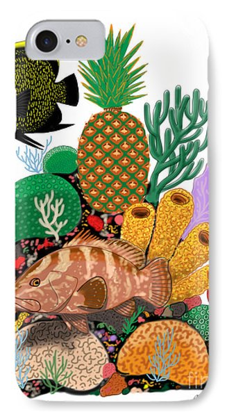 Pineapple Reef IPhone Case by Carey Chen