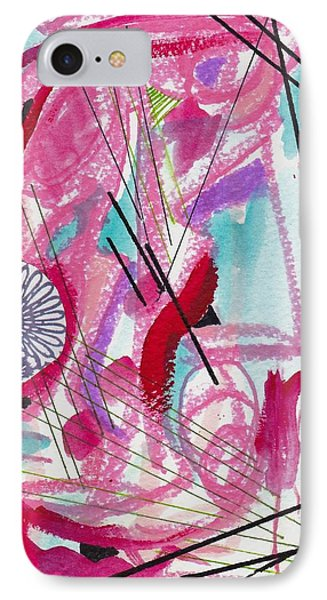 Pink And Black Lines IPhone Case