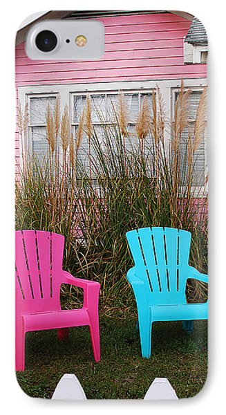 Pink And Blue Chairs By Jan Marvin IPhone Case
