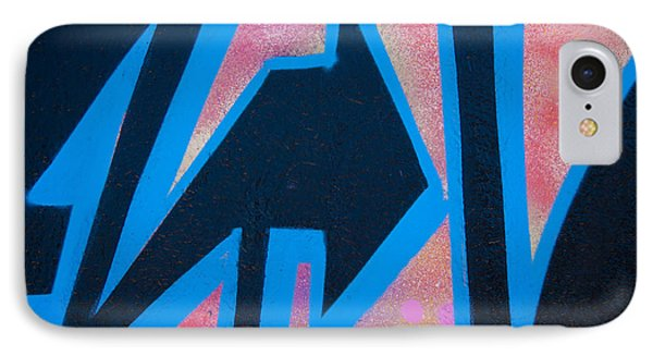 Pink And Blue Graffiti Arrow IPhone Case by Carol Leigh