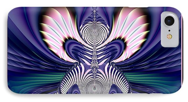 Pink And Blue Guardian Angel Fractal 99 Phone Case by Rose Santuci-Sofranko