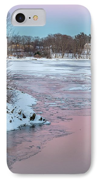 Pink And Blue Sky Tonight IPhone Case by Stroudwater Falls Photography