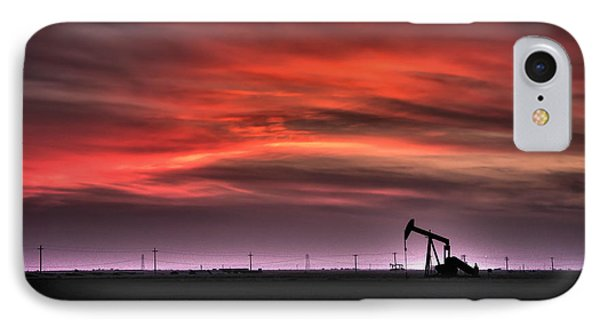 Pink And Orange Sky At Sunset Phone Case by Connie Cooper-Edwards