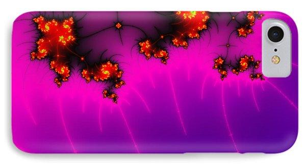 Pink And Purple Digital Fractal Artwork Phone Case by Matthias Hauser