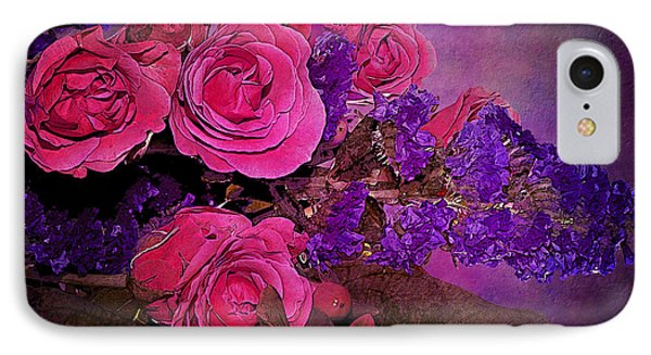 Pink And Purple Floral Bouquet IPhone Case