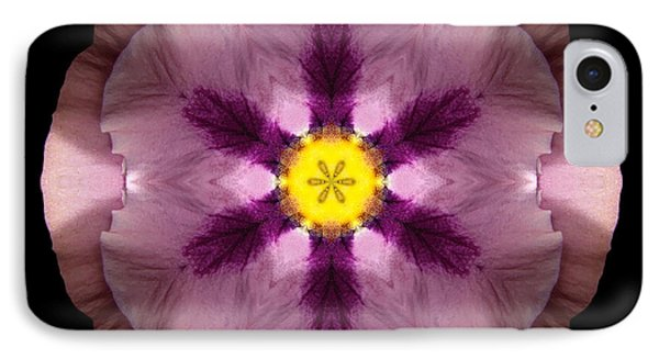 IPhone Case featuring the photograph Pink And Purple Pansy Flower Mandala by David J Bookbinder