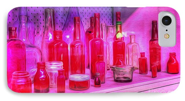 Pink And Red Bottles Phone Case by Kaye Menner