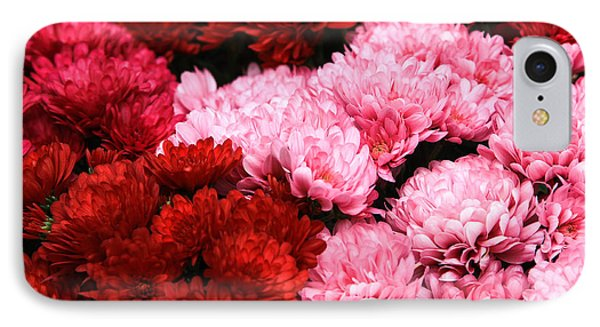 Pink And Red IPhone Case by Menachem Ganon