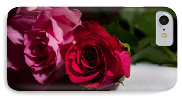 IPhone Case featuring the photograph Pink And Red Rose by Matt Malloy