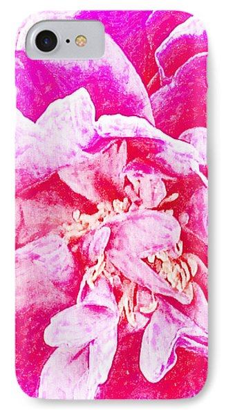 Pink And White Joy IPhone Case by Ann Tracy