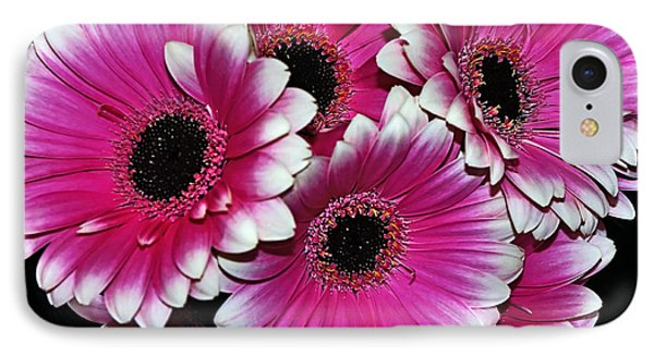 Pink And White Ornamental Gerberas Phone Case by Kaye Menner