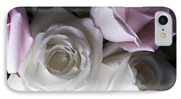 Pink And White Roses IPhone Case by Jennifer Ancker