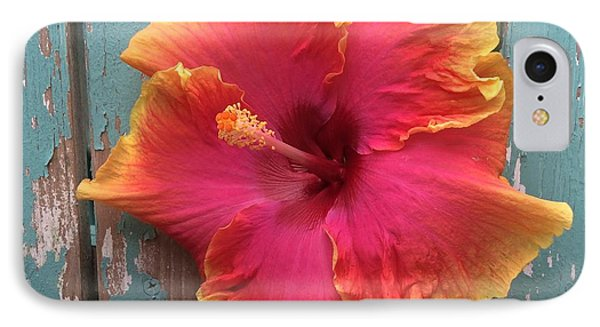 Tropical Pink And Yellow Hibiscus  IPhone Case