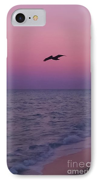 Pink Beach Sunset IPhone Case by Charlie Cliques