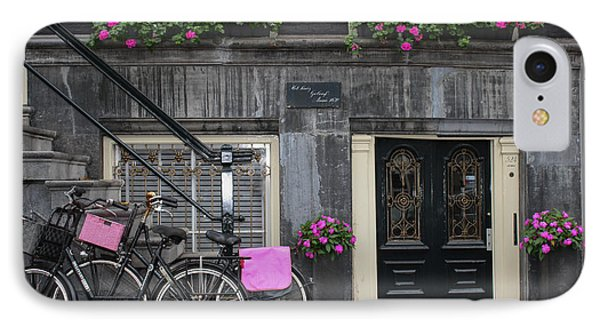 Pink Bikes Of Amsterdam IPhone Case by Mary-Lee Sanders