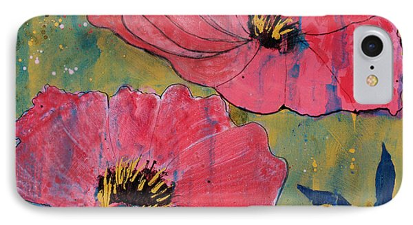 IPhone Case featuring the painting Pink Blossoms by Robin Maria Pedrero