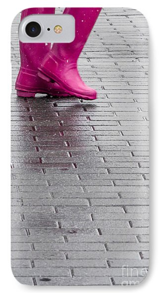 Pink Boots 1 IPhone Case by Susan Cole Kelly Impressions