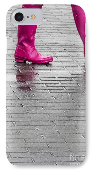Pink Boots 2 IPhone Case by Susan Cole Kelly Impressions