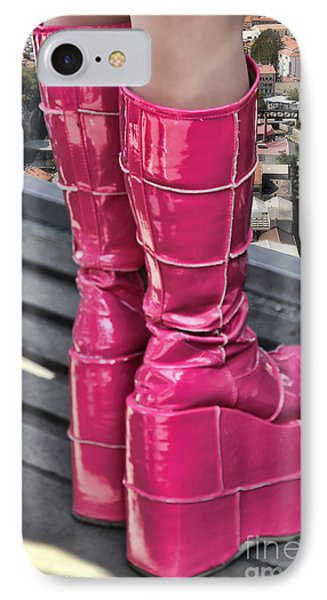 Pink Boots Phone Case by Jasna Buncic