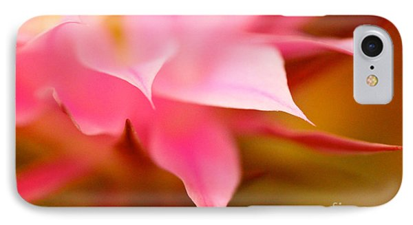 Pink Cactus Flower Abstract IPhone Case by Michael Cinnamond