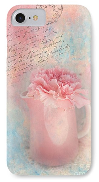 Pink Carnation In Pitcher IPhone Case