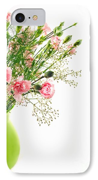 Pink Carnation Flowers IPhone Case by Vizual Studio