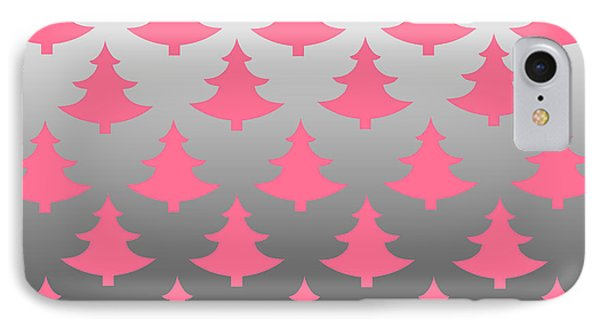 Pink Christmas IPhone Case by Chastity Hoff