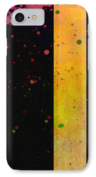 Pink  Color Splach Abstract Art  Phone Case by Ann Powell