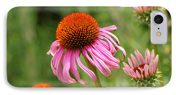 Pink Cone Flower Phone Case by Art Block Collections